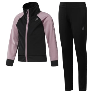 Girls Workout Ready Tricot Tracksuit Black / Infused Lilac DH4329