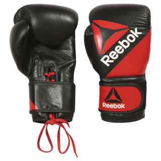 Guantes de piel Combat Training - 16oz (450 g) Multicolor / Reebok Red / Black BG9380