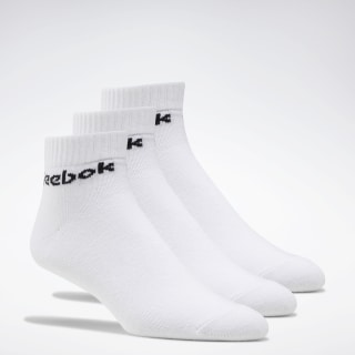 Active Core Ankle Socks 3 Pairs White FL5227