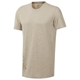 Camiseta Training Essentials Marble Group Light Sand DU3781