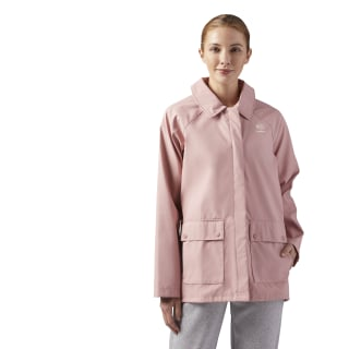 Relaxed-Fit Coach Jacket Chalk Pink CE1802