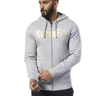 Reebok CrossFit® Christmas Hoodie Medium Grey Heather FJ9493