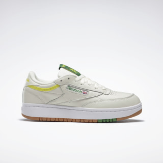 Кроссовки Reebok Club C Double White/chalk/hero yellow/reebok rubber gum-05 FW3621