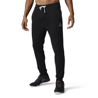 French Terry Cuffed Pant Black BK5055