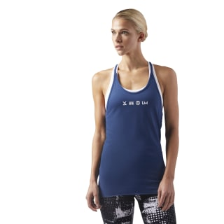 LES MILLS Supremium Tank 2.0 Washed Blue CD6208