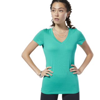 V-Neck T-Shirt Emerald EC2023