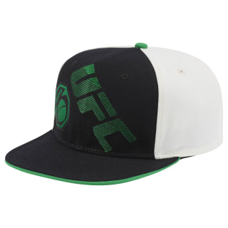 UFC Ultimate Fan Flat Brim Snapback Hat Black / White / Green BM3138