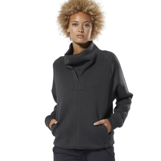 Sudadera Training Supply Cowl Neck Black DU4057