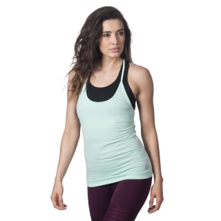 Recycled Racerback Tank Turquoise CF8701