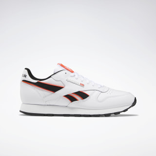 Classic Leather Shoes White / Neon Red / Black EF8867