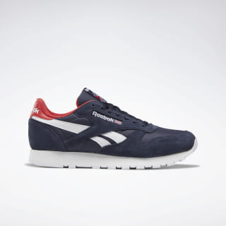 Classic Leather Heritage Navy / Rebel Red / White DV7113