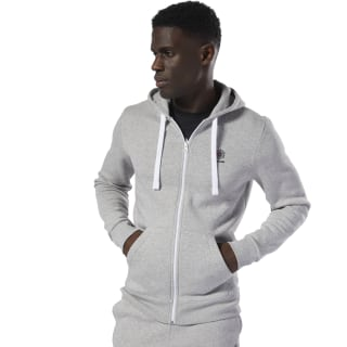 Sweat à capuche molletonné Classics avec zip intégral Medium Grey Heather DT8129
