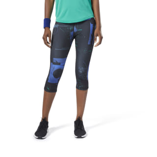 Workout Ready AOP Capris Cobalt EC2399