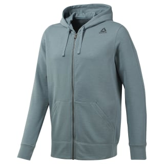 French Terry Full-Zip Hoodie Teal Fog DU3733