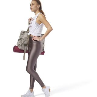 Metallic High Rise Legging Almost Grey CY4984