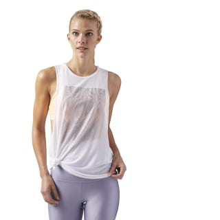 Moire Muscle Tanktop White CD3815
