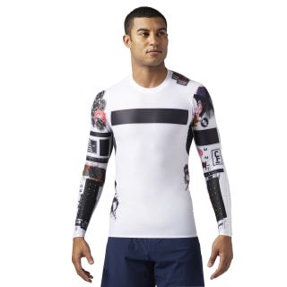 Maglia Reebok CrossFit Compression Long Sleeve White BS1586