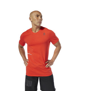 Reebok CrossFit® Mesh Move Tee Canton Red DU5059