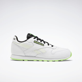 Classic Leather Shoes White / Solar Green / Black EH1771