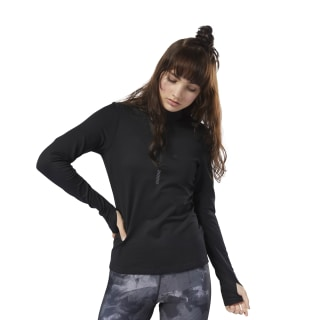 Camiseta Run 1/4 Zip Top Black D78729