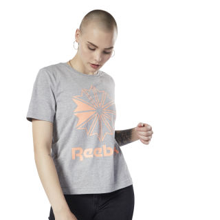 Camiseta Classics Big Logo Graphic Medium Grey Heather / Sunglow EC3756