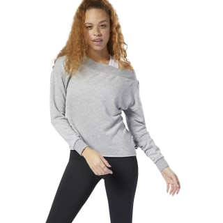 Camiseta Yoga Pullover Medium Grey Heather DP5851