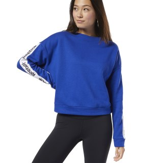 Training Essentials Logo Crew Sweatshirt Cobalt FI4817