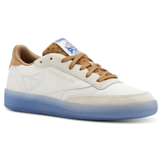 Club C 85 Neon Ice-Chalk / Soft Camel / Vital Blue CN3260