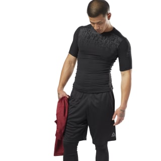 T-shirt de compression imprimé ACTIVCHILL Black D93794
