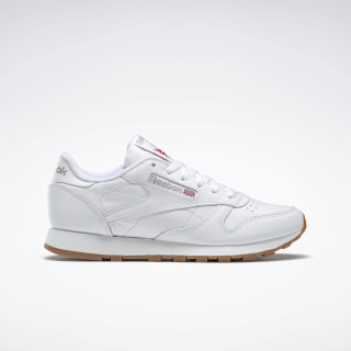 Classic Leather Shoes Intense White / Gum 49803