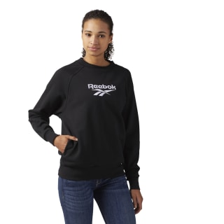 Cotton Cover-Up Sweatshirt Black CF3950