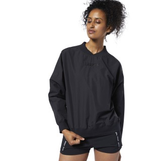 Meet You There Woven Pullover Black DY8113