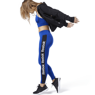 Training Essentials Linear Logo Tights Cobalt FI2044