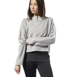 Training Essentials Sweatshirt Medium Grey Heather DY8139