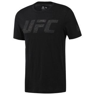GRAPHIC TEE SHORT SLEEVE UFC FG LOGO TEE BLACK CY7262