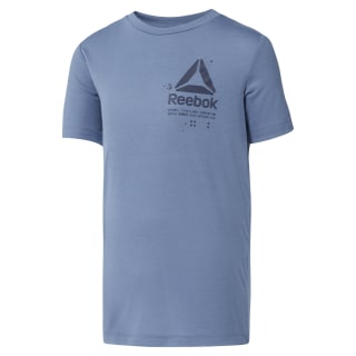 Boys' Training Graphic T-Shirt Blue Slate DH3338