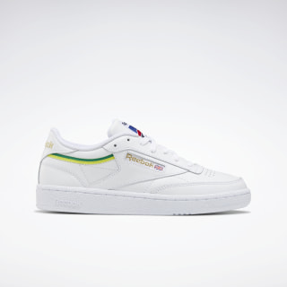 Кроссовки Reebok Club C 85 White / Hero Yellow / White EG5984
