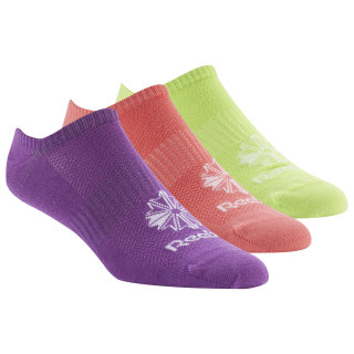 Classic Footwear Invisible Sock - 3Pack Bright Rose/Neon Lime/Aubergine F17-R DU7486