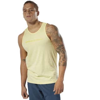 LES MILLS® Dual-Blend Tank Top Filtered Yellow DV2721