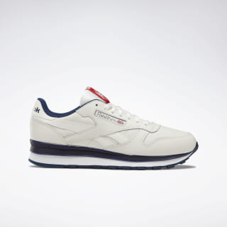 Classic Leather Shoes Chalk / Collegiate Navy / Primal Red DV8626
