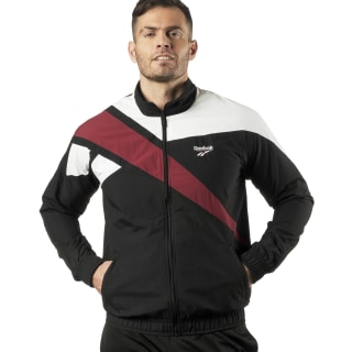 Reebok Archive Vector Tracktop Black / Collegiate Burgundy DZ6266