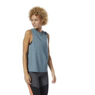 Training Essentials Marble Tank Top Teal Fog DP6668