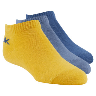 Kids No Show Sock - 3pairs Bunker Blue / Blue Slate / Fierce Gold DA1246