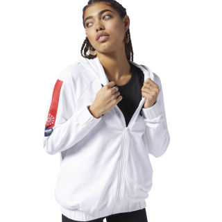 Classics  French Terry Full Zip Hoodie White DH1333