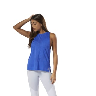 Burnout Tank Top Crushed Cobalt DU4084