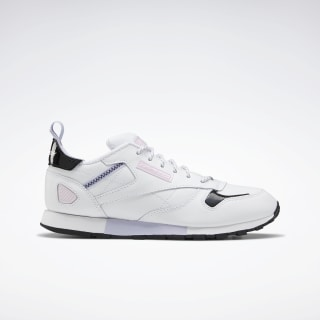 Classic Leather Ree:Dux Shoes - Grade School White / Wild Lilac / Pixel Pink FV5532