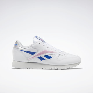 Classic Leather Shoes White / Humble Blue / Jasmine Pink EH1864