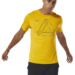 Training ACTIVCHILL Graphic Tee Semi Solar Gold DU3934