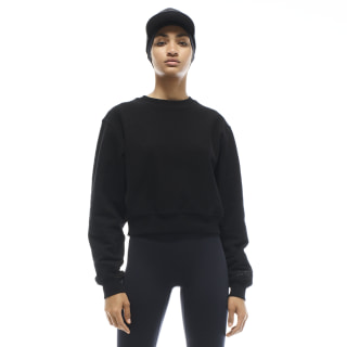 VB Cropped Sweatshirt Black FQ7922