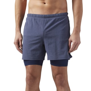 Shorts para Running 2 en 1 COLLEGIATE NAVY CD5436